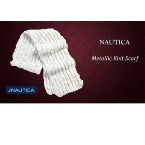 NAUTICA Scarf Women Metallic Knit Scarf